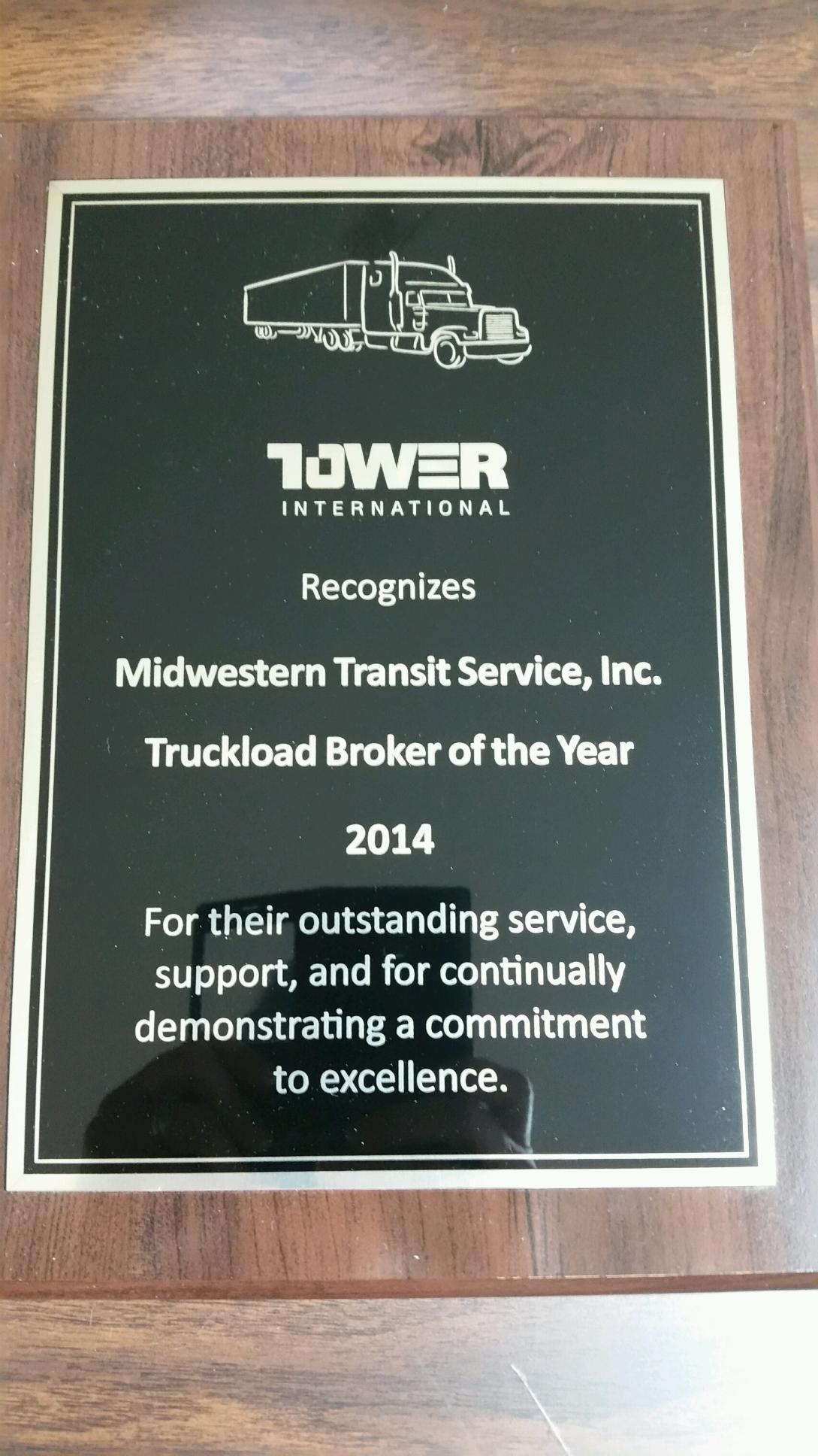 Tower 2014 Award